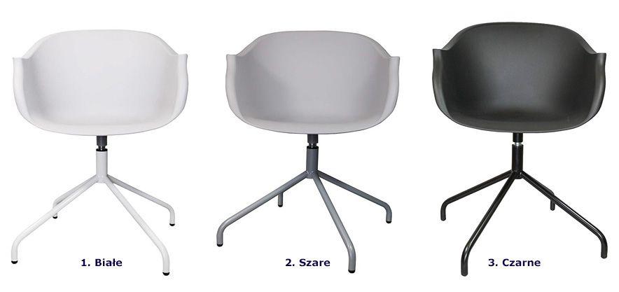 Loftowe krzesło obrotowe Dubby - do jadalni