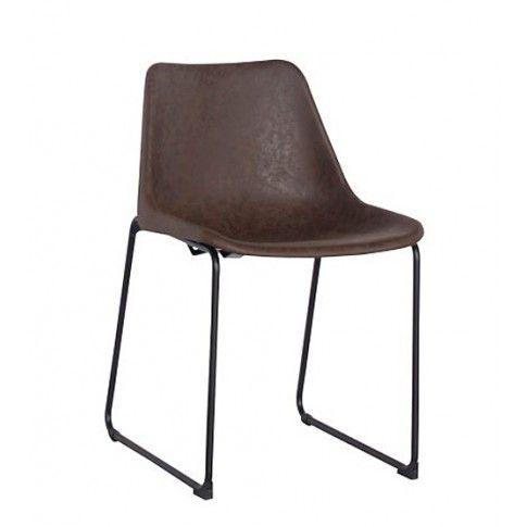 Zdjęcie produktu Krzesło vintage Melbro - brązowe.