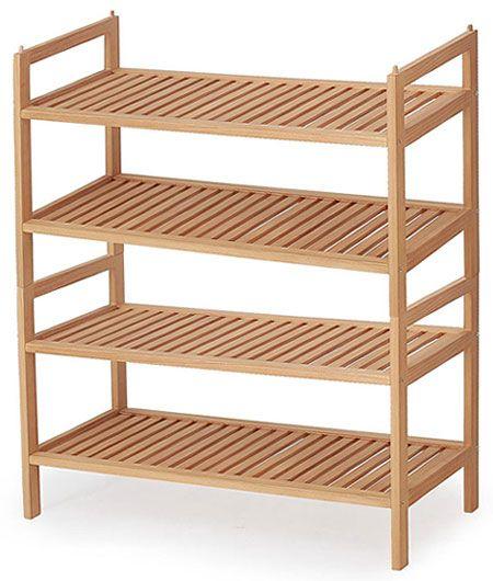 Drewniany stojak na buty Randon