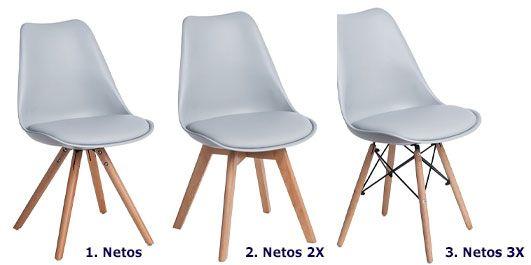 Skandynawskie krzesło Netos - buk