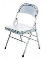 Loftowe krzesło Ledox 2X- białe