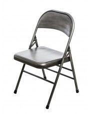 Loftowe krzesło Ledox 2X- srebrne