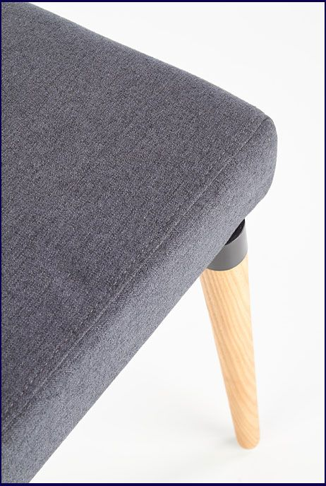 Popielate krzesło drewniane do salonu, jadalni Midler