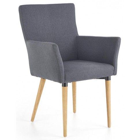 Zdjęcie produktu Drewniane krzesło z podłokietnikami Ashon - popielate.