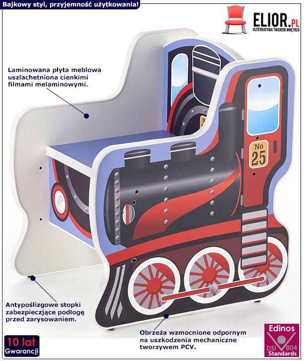 Fotelik dla dziecka lokomotywa Milo 2X