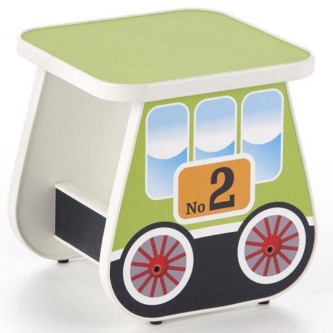 Zdjęcie produktu Taboret dziecięcy wagonik Milo 4X - zielony.