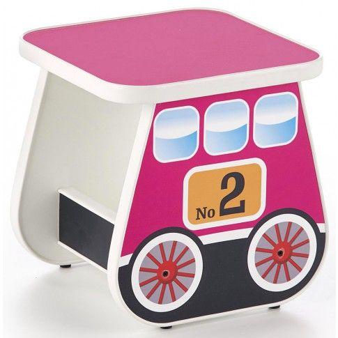 Zdjęcie produktu Taboret dziewczęcy wagonik Milo 4X - różowy.