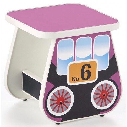 Zdjęcie produktu Kwadratowy taboret wagonik Milo 4X - fioletowy.