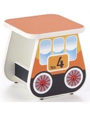 Taboret dla dziecka wagonik Milo 4X - pomarańczowy
