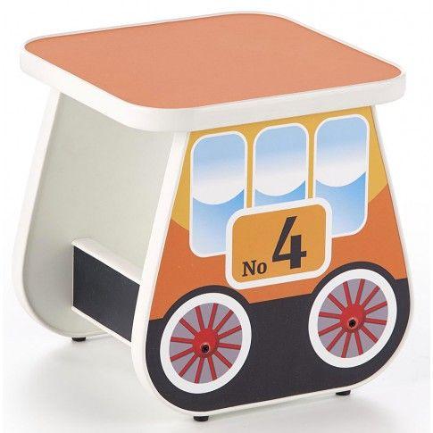 Zdjęcie produktu Taboret dla dziecka wagonik Milo 4X - pomarańczowy.