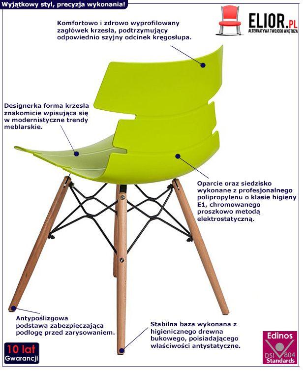 Nowoczesne krzesło Friko - zielone