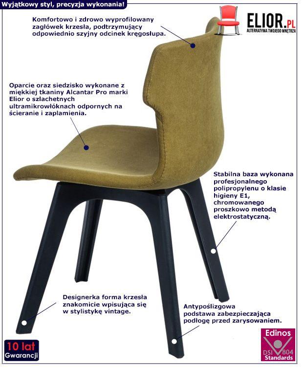 Retro krzesło Duno - ciemnozielone