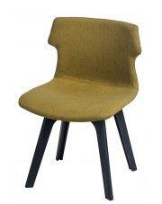 Krzesło vintage Duno - ciemnozielone w sklepie Edinos.pl