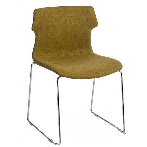 Zdjęcie produktu Krzesło vintage Presid - ciemnozielone.