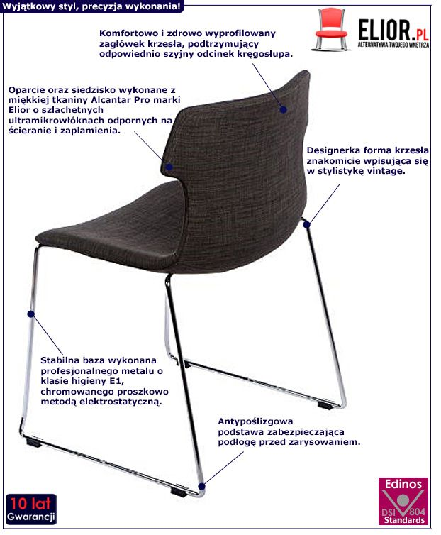 Wyjątkowe krzesło Presid vintage - brązowe