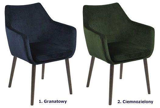 Stylowy fotel Novo - welurowa tkanina