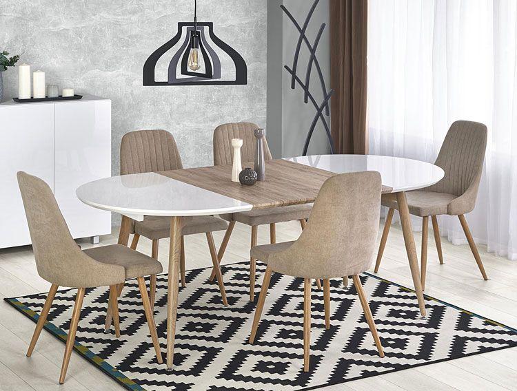Tapicerowane krzesło kuchenne do stołu Isent