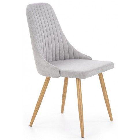 Zdjęcie produktu Krzesło tapicerowane Isent - jasny popiel.