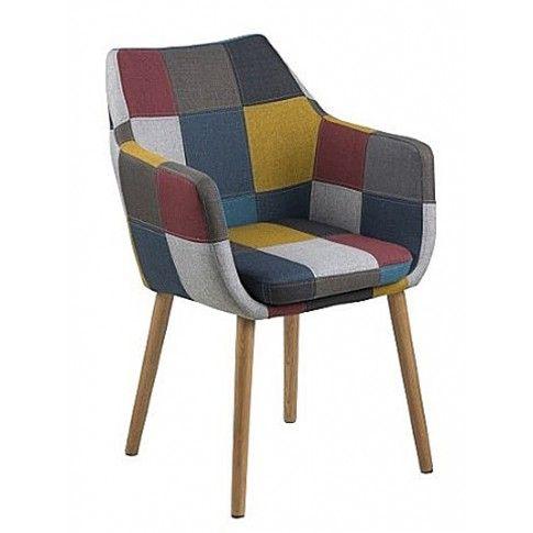 Zdjęcie produktu Fotel kubełkowy Debbie - patchwork.