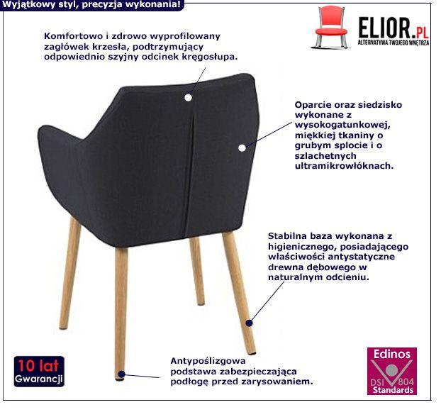 Retro fotel Elbro - czarny