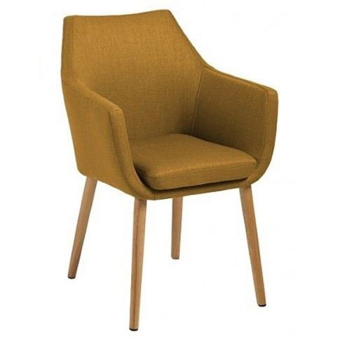Zdjęcie produktu Fotel vintage Elpro - żółty.
