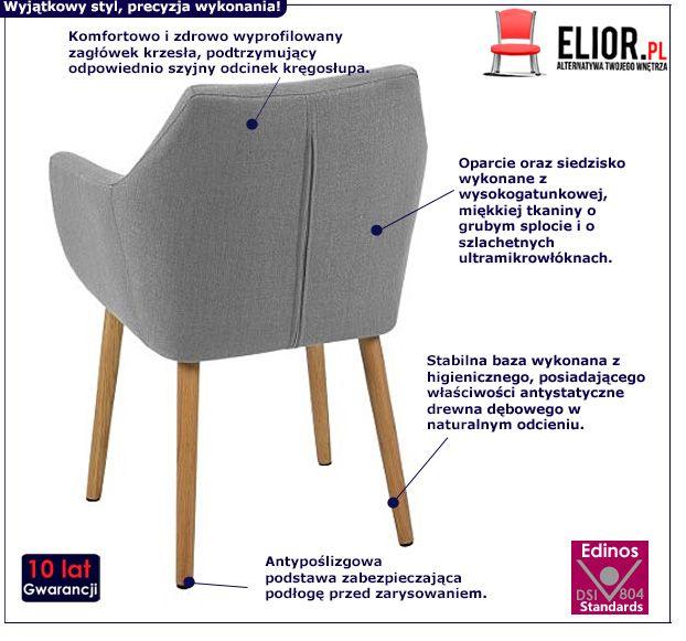 Nowoczesny fotel Elpro - szary
