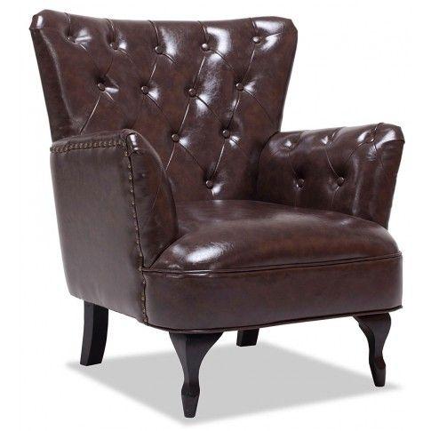 Zdjęcie produktu Fotel wypoczynkowy Ennis - brązowy.