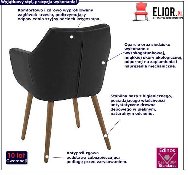 Stylowy fotel Elpro 2X - czarny