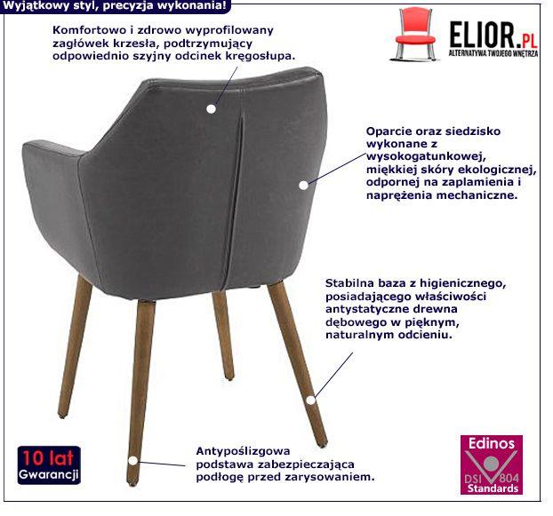 Modernistyczny fotel Elpro 2X - szary