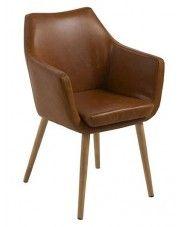 Fotel Elpro 2X- brązowy
