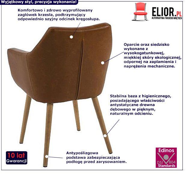Elegancki fotel Elpro 2X - brązowy