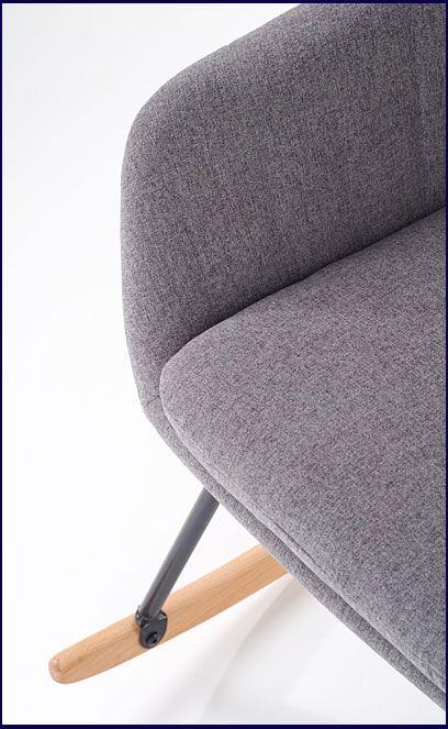 Szare tapicerowane krzesło na biegunach Orkin