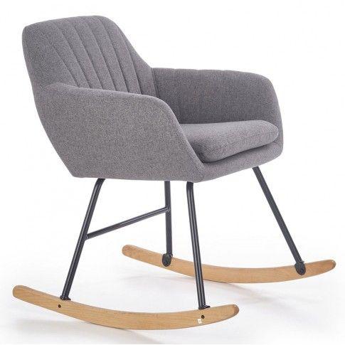 Zdjęcie produktu Fotel bujany Orkin - popielaty.