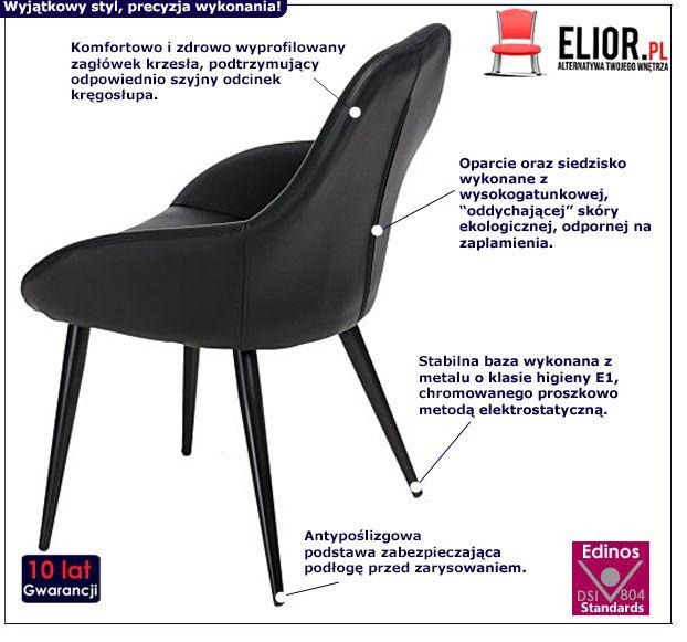 Piękny fotel Pubby - czarny
