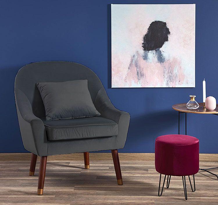 Szary fotel relaksacyjny Rafis