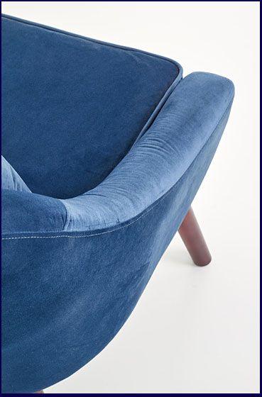 Granatowy fotel tapicerowany do salonu Rafis