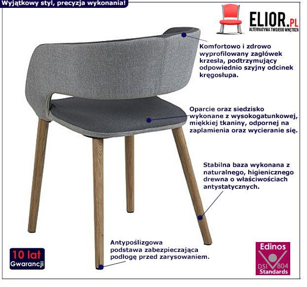 Stylowe krzesło Stovo - ciemnoszare