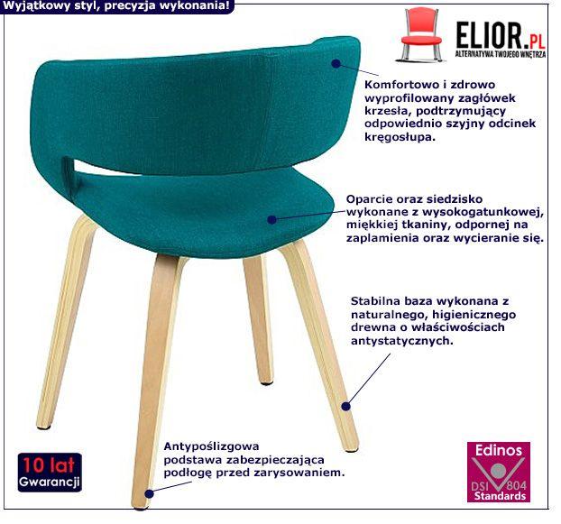 Modne krzesło Stovo - turkusowe