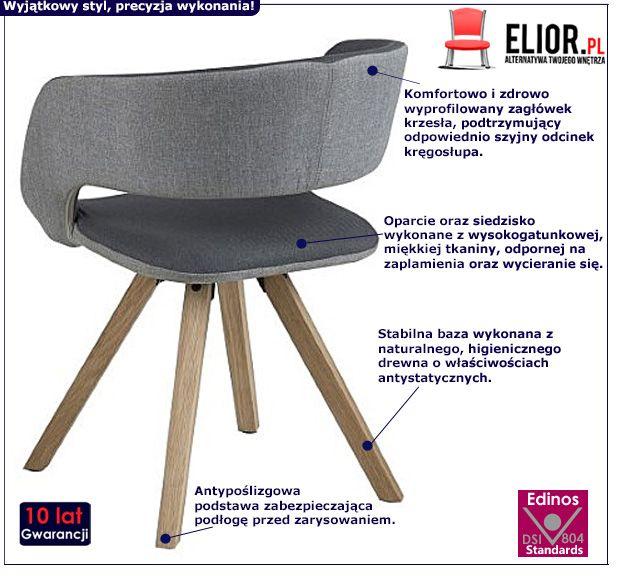 Stylowe krzesło Stovo 2X - ciemnoszare