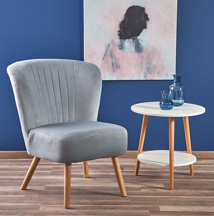Popielaty fotel wypoczynkowy do salonu, biura Lorid