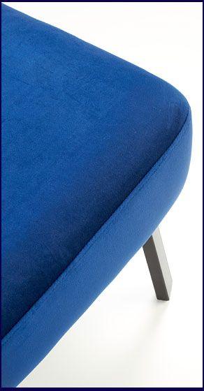 Niebieski fotel do czytania, oglądania tv Lorid