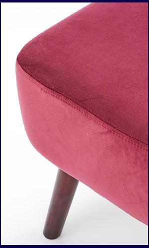 Czerwony fotel wypoczynkowy do czytania Lorid