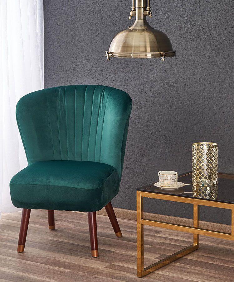 Zielony fotel wypoczynkowy do salonu, biura Lorid
