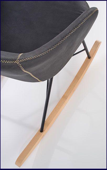 Szare krzesło na biegunach Rafon