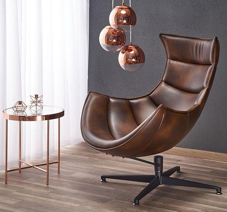 Brązowy fotel wypoczynkowy do sypialni, pracowni Lavos