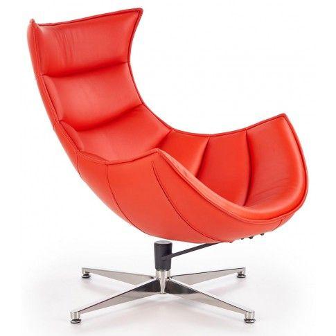 Zdjęcie produktu Skórzany fotel wypoczynkowy Lavos - czerwony.