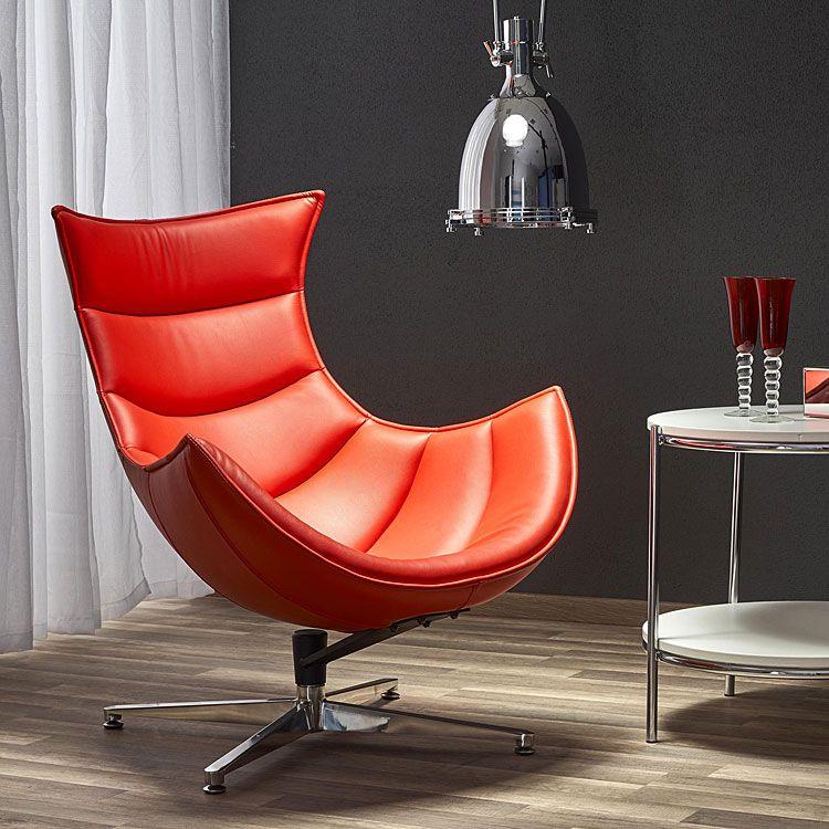 Nowoczesny czerwony fotel relaksacyjny Lavos