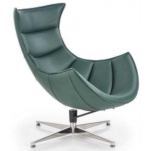 Zdjęcie produktu Skórzany fotel wypoczynkowy Lavos - zielony.
