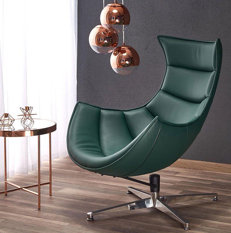 Zielony fotel relaksacyjny do salonu, biura Lavos