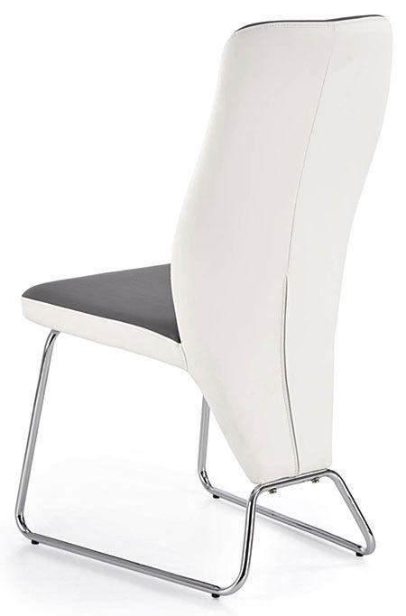 Popielate krzesło do jadalni, salonu Migen